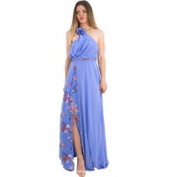 e54d50106068 Γυναικείο γαλάζιο maxi φόρεμα φλοράλ ένας ώμος No Stress 8587317W