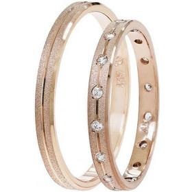 Βέρες Γάμου Ροζ Χρυσός Στεργιάδης SAT01 Κ9 Κ14 ή Κ18 2.50 χιλ 6ca1434433d
