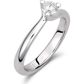 Μονόπετρο δαχτυλίδι από λευκό χρυσό 18 καρατίων με διαμάντι 0.31ct  πιστοποιημένο από τον γεμολόγο μας 596cdba50ab