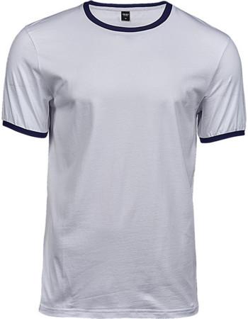 Ανδρικό T Shirt Ringer Tee Jays 5070 - White Navy 4320bcbc2bc