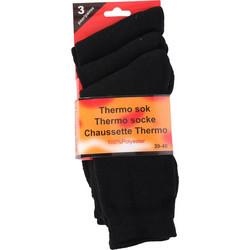 Σετ 3 ζευγάρια Ισοθερμικές κάλτσες από 100% πολυεστέρα σε Μαύρο χρώμα a92f2847374