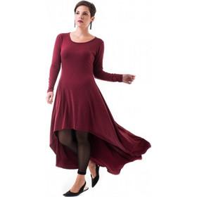 80f9be8aad62 Μπορντό Φόρεμα με Ουρά   Βελούδινο Φιόγκο