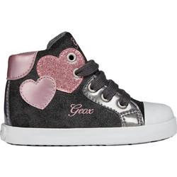 Geox παιδικά sneakers μποτάκια Baby Kilwi Girl - B84D5C - Μαύρο ea42c3ad529