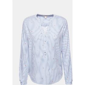 f4b93695a549 Esprit γυναικείο ριγέ πουκάμισο με μικροσχέδιο καρδιές - 999EE1F803 -  Γαλάζιο