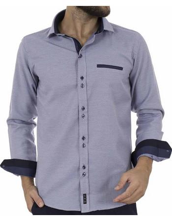 bc3321325e33 Ανδρικό Μακρυμάνικο Πουκάμισο Slim Fit CND Shirts 3600-3 Navy