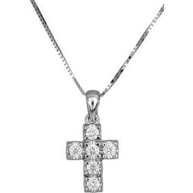 Γυναικείος σταυρός με μπριγιάν 017310 Χρυσός 18 Καράτια e177c368c7d