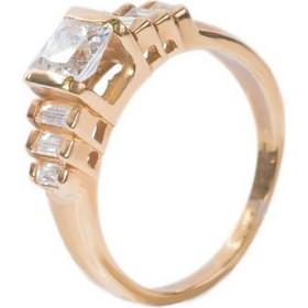 Γυναικείο δαχτυλίδι σε κίτρινο χρυσό Κ14 με ζιργκόν και συνθετική πέτρα b3fe720c05a