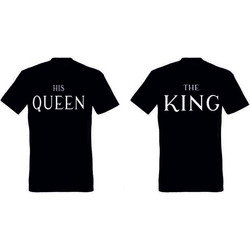 T-shirt The King and His Queen (σετ 2 τεμ.) Κωδ. 8463ca1ceba