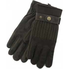 Stamion Ανδρικά δερμάτινα γάντια με πλεκτές λεπτομέριες 111899-Καφέ 7a49ac67e54