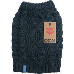 9849a96bbd10 Πουλόβερ για Σκύλους Cable Knit της Sotnos Dogwear με Χοντρή Πλέξη Μαύρο Extra  Extra Large Μήκος