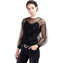 b9e2dda458a Μπλούζα με τούλι - Μαύρο
