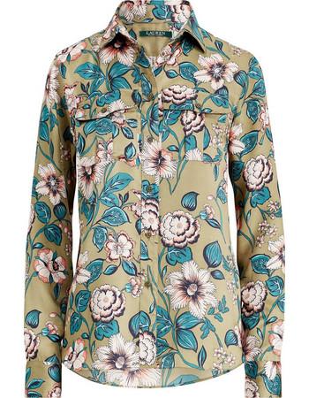 Lauren Ralph Lauren γυναικείο εμπριμέ πουκάμισο Floral Print Button Down  Shirt - 200713278001 - Λαδί f89fa62138f