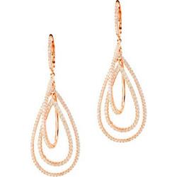 Ασημένια σκουλαρίκια σταγόνες 925 σε ροζ χρώμα SKSL330A c90058f0ccf