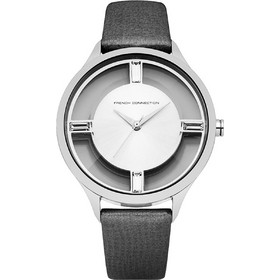 French Connection Grey Leather Strap FC1233B a34e6d83394