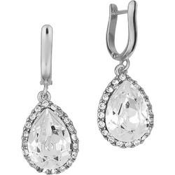 Σκουλαρίκια ροζέτες δάκρυ σε ασήμι 925 με λευκές πέτρες SWAROVSKI  SK-U3217WL1 17b5edc1a67