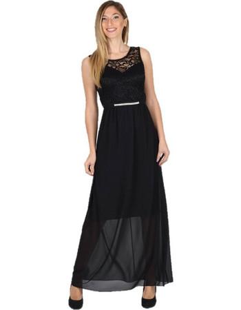 Maxi Φόρεμα με Δαντέλα Μαύρο - Μαύρο adaff92b37c