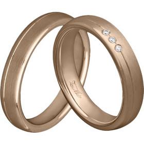 Χειροποίητη βέρα ροζ χρυσό με διαμάντια Κ14 XV00789 131cbf71589