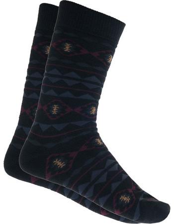 Ανδρική κάλτσα ισοθερμική σε μαύρο χρώμα με μπορντό σχέδιο 1ab530f780a