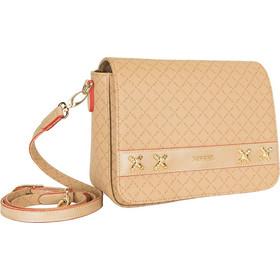 bc60b78ba2 Τσάντα Ώμου-Χιαστί Με Καπάκι La Tour Eiffel Logo-Δέρμα 142096 Μπεζ