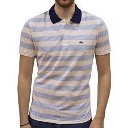 bb3a87dc281b LACOSTE POLO T-SHIRT REGULAR FIT STRETCH BLANC BLUE CLAIR