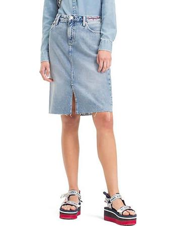 Tommy Hilfiger Knee Length Denim Skirt DW0DW04564-911NI ce6c847c30b