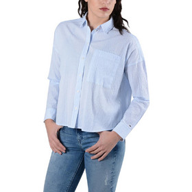 83b64040eec6 Tommy Jeans Oversized Seersu Γυναικείο Πουκάμισο DW0DW04179-901