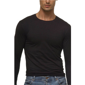 55c4f58103d6 Helios ανδρικό μπλουζάκι με μακρύ μανίκι Μαύρο