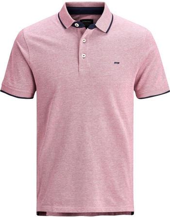 5f145d0acd59 JACK   JONES ανδρική μπλούζα polo με διχρωμία - 12136668 - Ροζ