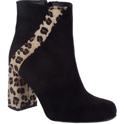 c69c18f6149 Smart Cronos Γυναικεία Παπούτσια Μποτάκια 6977-3529 Μαύρο Λεοπάρ Δέρμα  Καστόρι 49122