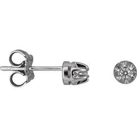 Λευκόχρυσα σκουλαρίκια με διαμάντια Κ18 024661 024661 Χρυσός 18 Καράτια f3719b2e11f