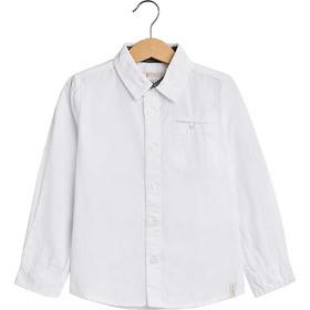 cf88fed9d49 Esprit παιδικό μονόχρωμο πουκάμισο με τσέπη - RM1210411 - Λευκό