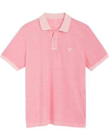 cf0dd455644c Gant ανδρική polo μπλούζα πετροπλυμένη - 2052028 - Ροζ