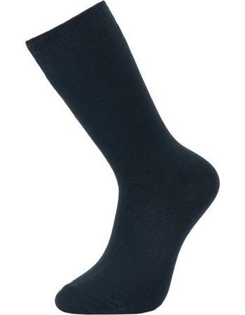 Ανδρικές βαμβακερές κάλτσες μονόχρωμες ψηλές Μπλε σκούρο 240b81a45f4