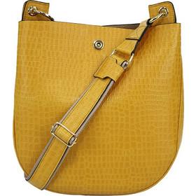 6ac0ab91f1 Τσάντα Γυναικεία Χιαστί Playbags Collection J049. Κίτρινο Κροκο