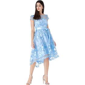 50b3a876de32 Powder blue φόρεμα στυλ skater φλοράλ