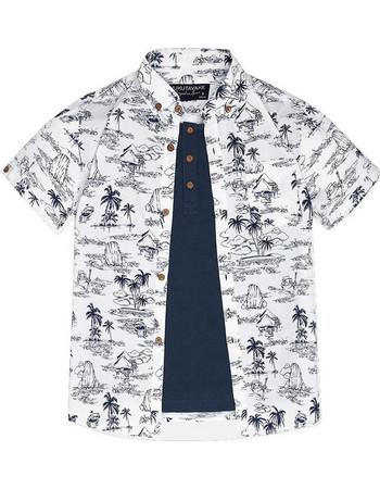 Mayoral 6133 πουκάμισο κοντομάνικο Λευκό Mayoral 67eb3820ab3