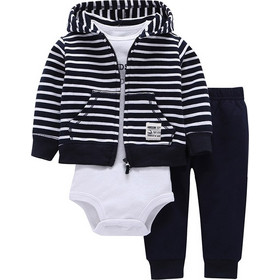 Spring and Autumn New Product Baby Rompers Baseball Clothing Three Piece  Long Sleeves with Hat 66a4eda8789
