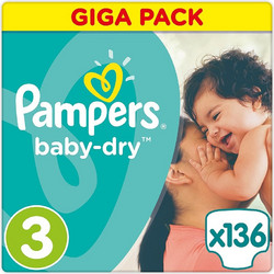 Pampers Baby Dry Midi No3 5-9kg 136τμχ b59ea43f0a6