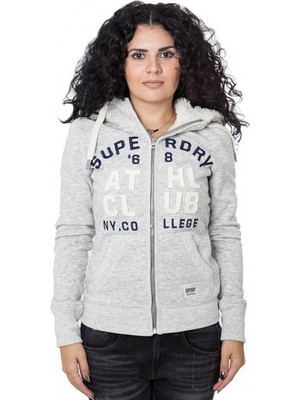 SUPERDRY Ζακέτα με κουκούλα D3 APPLIQUE BORG ZIPHOOD 162SDBA0G20001PNF100