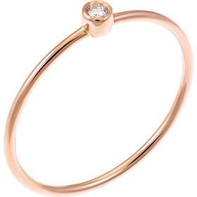 Δαχτυλίδι μονόπετρο από ροζ χρυσό 18 καρατίων με διαμάντι. SP19312 01ec87efd17