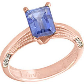 Μονόπετρο δαχτυλίδι από ροζ χρυσό Κ14 με ορυκτή πέτρα SWAROVSKI DF683-OR20 7192d87a044