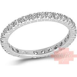 Λευκόχρυσο ολόβερο δαχτυλίδι με ζιργκόν 14καρατίων 191LLAV24 065ad60aee8