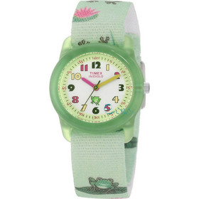 Timex Childs Indiglo Frog Green Strap T7B705