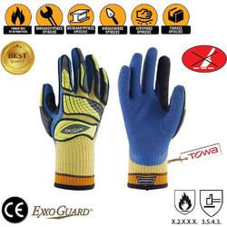 Γάντια Εργασίας Latex Παλάμης με Μαξιλαράκια TPR Υπερανθεκτικά στην  Ολίσθηση TOWA Exxoguard EG3-351 a2a1268b5d4