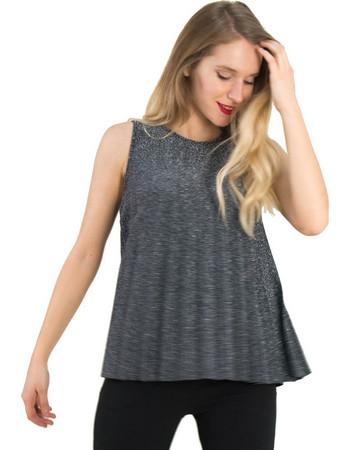 Γυναικεία ασημί αμάνικη μπλούζα Lurex πλισε 80269S 8f13da4e39e