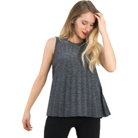 cd213b328aac Γυναικεία ασημί αμάνικη μπλούζα Lurex πλισε 80269S