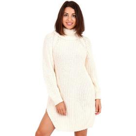 b6221e98f127 Λευκό Πλεκτό Μπλουζοφόρεμα Ζιβάγκο Λευκό Silia D