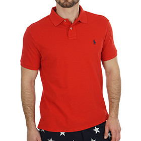 e30d4494ac65 POLO RALPH LAUREN SLIM FIT MESH RL20000 RED POLO SHIRT 710548797005