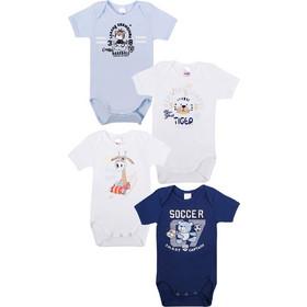 4f6384a2b43 Minervakia Βρεφικό Κορμάκι Αγόρι Κοντό Μανίκι Baby Boy Campus- Τετράδα  Πολύχρωμο