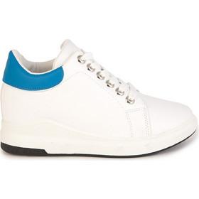 Αθλητικά λευκά με μπλε δερματίνη με εσωτερικό τακούνι 302221wh 810618d73e3
